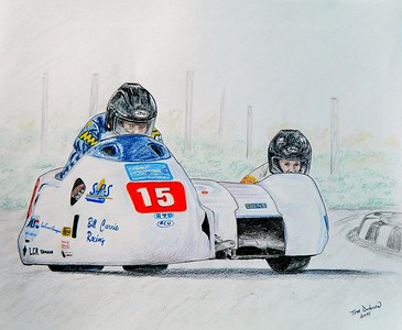 1B1-Bill Currie & Kevin Morgan, IoM 2011  14x17, color pencil, sep 25, 2015  Sold to Kevin Morgan Jr, sep 2015  DSCN0910