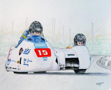 1B2-Bill Currie & Kevin Morgan, IoM 2011  14x17, color pencil, sep 25, 2015 Sold to Kevin Morgan Jr, sep 2015  DSCN0909