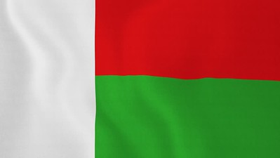 Flag of Madagascar - September 13, 2018