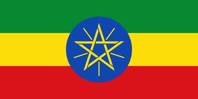 Flag of Ethiopia - August 25, 2018