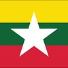 Flag of Myanmar - July 2, 2018