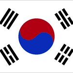 Flag of South Korea - September 21, 2018