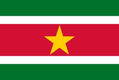Flag of Suriname - July 30, 2018