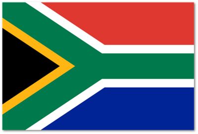 Flag of South Africa - October 1, 2016