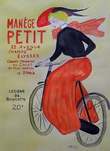 Husum, Germany -  Manege Petit, 9x12, watercolor, aug 2, 2015. Gift to  Angelika Schmidt-Durdaut, Husum, Germany, july 9, 2016. Rec'd OK