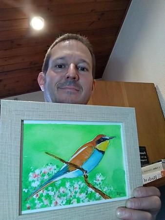 Spain - Enric Fontcuberta, European Bee-eater,  Barcelona, Spain, rec'd nov 7, 2018.