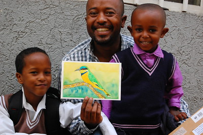 Ethiopia - Blue-breasted Bee-eater, Adopted by Elias Alemu, Addis Aababa, Ethiopia, aug 25, 2018. rec'd  oct 18, 2018.