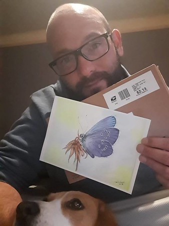 Luxembourg, Luxembourg - Adonis Blue. adopted by Eric Delgado, Soleuvre, Luxembourg, sep 25, 2018. rec'd oct 19, 2018