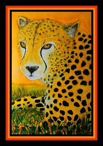 1- Cheetah, 12x18, watercolor, june 17, 2017 DSCN01051