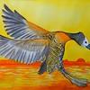 1-White-faced Whistling Duck, 10x14, watercolor, june 12, 2016 DSCN9973