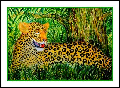 The Leopard, 21x30, watercolor, nov 9, 2016 DSCN05421-A