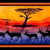 1-Springboks Sunset, 12x23, watercolor, june 4, 2017 DSCN00521