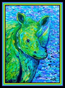 1A1-Rhino # 2, 11x14, acrylic on canvas panel, oct 27, 2017 DSCN00792