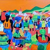 1 Market Day, Kasane, Botswana, 16x24, acrylic on plywood, oct 20, 2016 DSCN05352