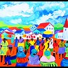 1-1 Market Day - Swaziland, 14x37, acrylic on canvas, april 14, 2017 IMG_76141