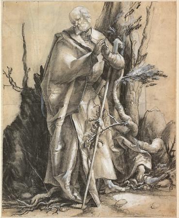 Albrecht_Dürer_-_Bearded_Saint_in_a_Forest,_c _1516_-_Google_Art_Project