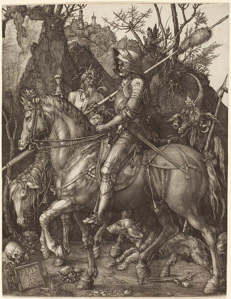 Albrecht Dürer (German, 1471 - 1528 ), Knight, Death and Devil, 1513, engraving on laid paper