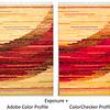 Compare profiles, brown-red +
