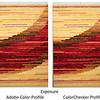 Compare profiles, brown-red