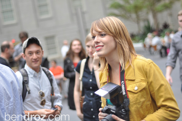 Alexa Meade at the National Portrait Gallery.  June 6th, 2012.  Photo by Ben Droz