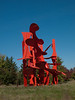 "a08 Alexander Liberman, ""Aria"", Painted Steel, 1979-1983.<br /> <br /> Frederik Meijer Gardens and Sculpture Park,<br /> Grand Rapids, Michigan,<br /> October 7, 2010"