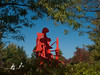 "a06 Alexander Liberman, ""Aria"", Painted Steel, 1979-1983.<br /> <br /> Frederik Meijer Gardens and Sculpture Park,<br /> Grand Rapids, Michigan,<br /> October 7, 2010"