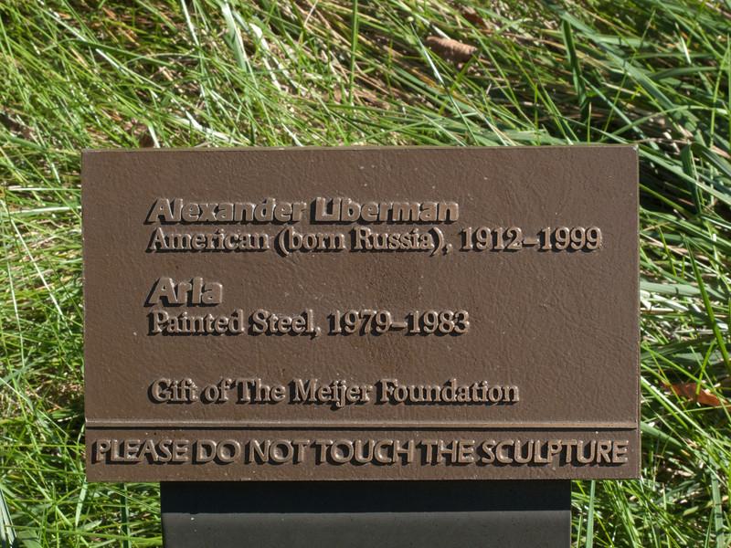 "a01 Alexander Liberman, ""Aria"", Painted Steel, 1979-1983.<br /> <br /> Frederik Meijer Gardens and Sculpture Park,<br /> Grand Rapids, Michigan,<br /> October 7, 2010"