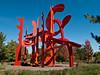 "a09 Alexander Liberman, ""Aria"", Painted Steel, 1979-1983.<br /> <br /> Frederik Meijer Gardens and Sculpture Park,<br /> Grand Rapids, Michigan,<br /> October 7, 2010"