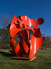 Begob<br /> by Alexander Liberman<br /> Painted steel sculpture, created 1989, installed 1996.<br /> Facing Beal Drive between the Lurie Engineering Center and the Auto Lab.<br /> .<br /> North Campus, University of Michigan<br /> Ann Arbor<br /> November 18, 2012