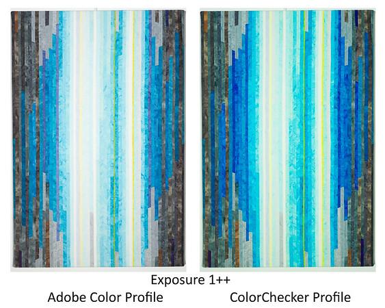 Compare profiles, blue ++