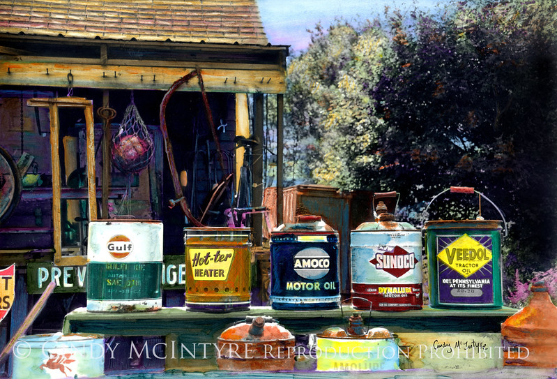 Oil Cans - Flea market, Searsport, Maine