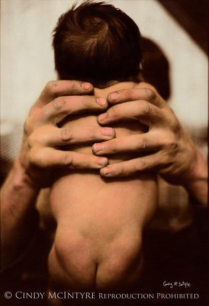 Daddy's Hands - My newborn son Ryan held in his daddy's hands