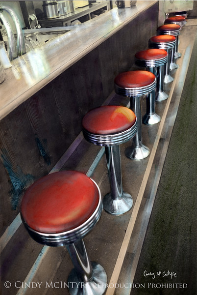 Diner Stools - This is a diner in Anytown, USA