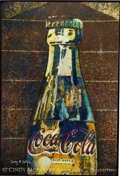 Old Coke - rusty sign