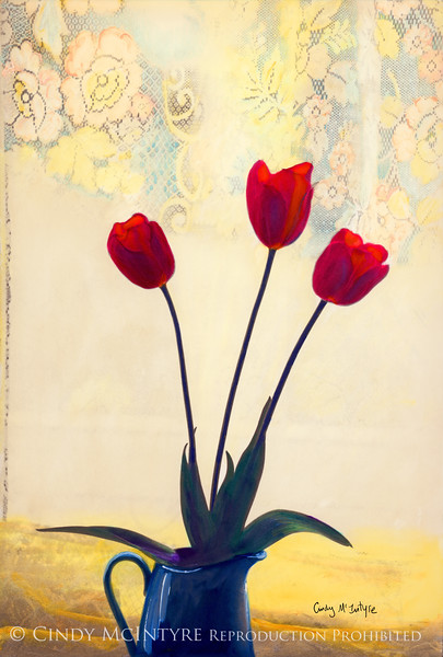 Tulips and Blue Vase copy