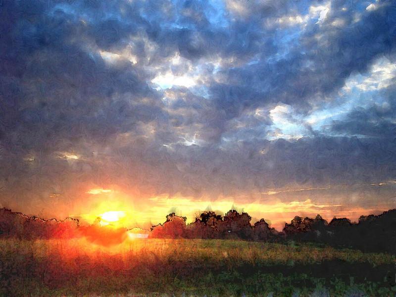 20001023-Sunset 16 x 20