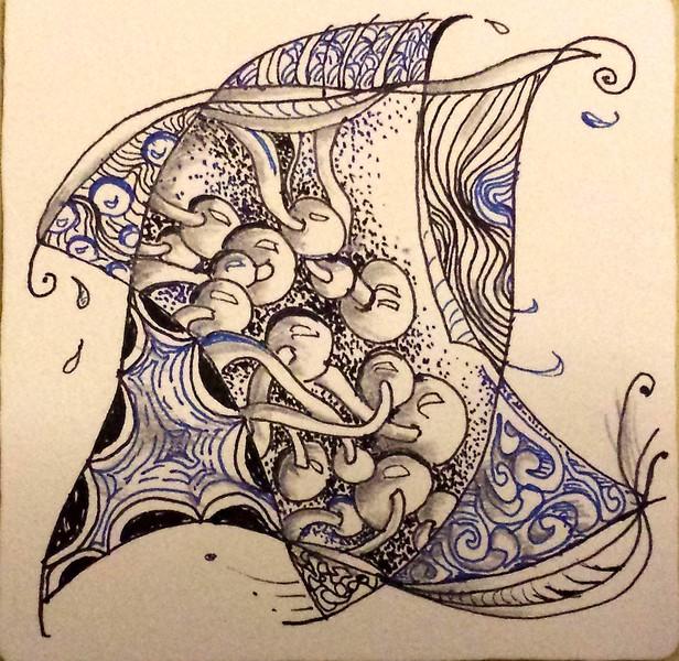 Zentangle Star -  © Anna Lisa Yoder 2014 (original size 3 1/2 x 3 1/2 in.)