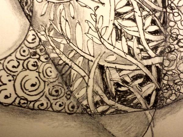 Zentangle Star (Detail of previous)  -  © Anna Lisa Yoder 2014