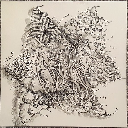 Zentangle Star -  © Anna Lisa Yoder 2017 (original size 6 x 6 in.)