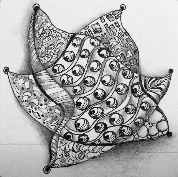 Zentangle Star - © Anna Lisa Yoder 2014