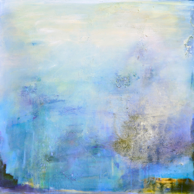 Sea Within<br /> 47 x 47 Mixed media on canvas $3750