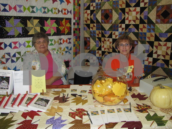 Greeting visitors and selling raffle tickets were Karen Breihoz and Diane Anderson.