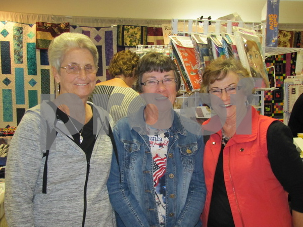Enjoying an afternoon of fun were Mary Nelson of Manson, Maureen Lenz of Palmer, and Phyllis Koester of FD.