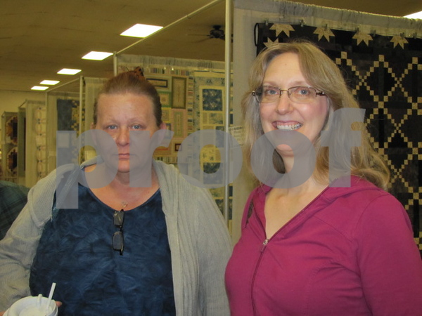 Sandy Morrison and Carla Crawford attended the quilt show.
