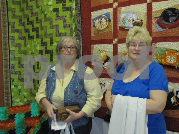 Tenann Everly and Denise Birney attended the FD Area Quilters' show.