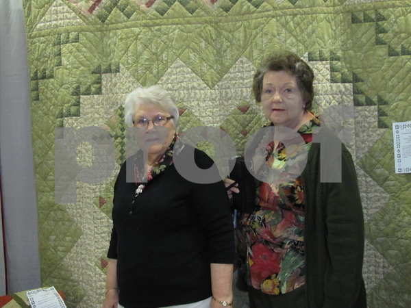 Shirley Swieter and Elaine Baker of Clarion attended the quilt show.