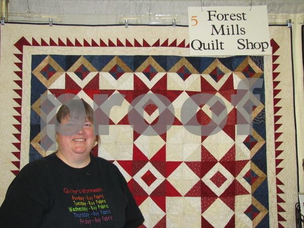 Carolyn Clark of 'Forest Mills Quilt Shop' in Decorah.