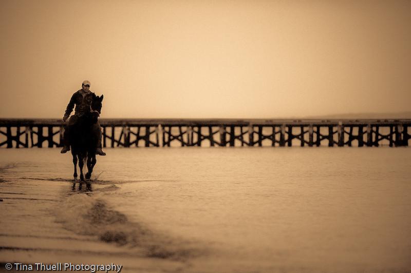 The pier at THE GLEN, PORTSMOUTH RI