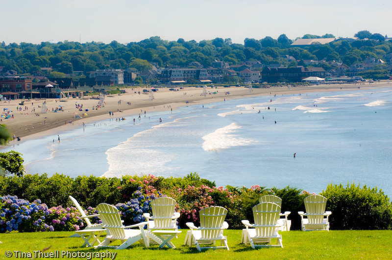 Eastons Beach as seen from the lawn of The Channler, NEWPORT RI