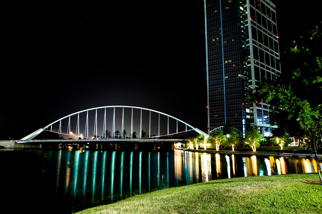 Anadarko building and bridge<br /> The Woodlands TX<br /> Canon 5D MkII + 24-70F2.8L, tripod and remote
